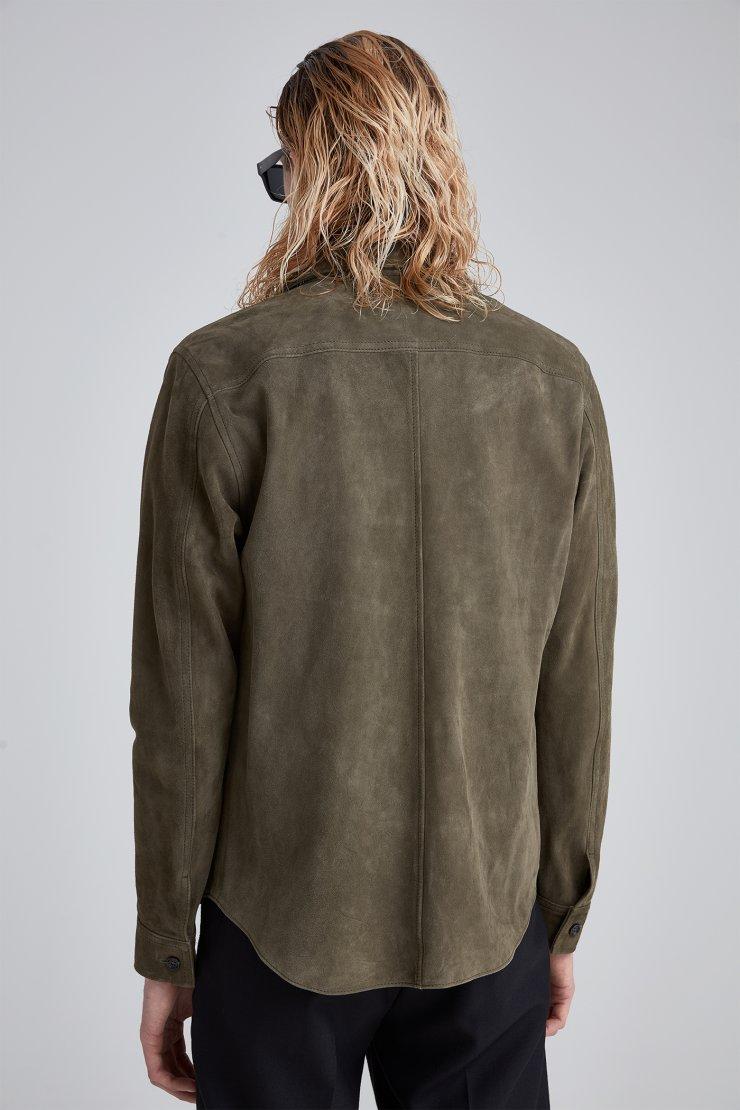 Suede Zip Shirt